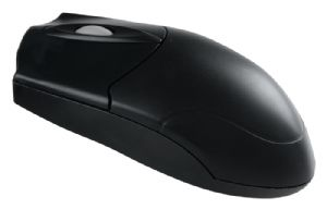 Colors-It 3 Button Black Optical Scroll Mouse PS/2